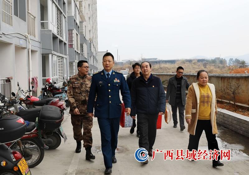 柳州市委常委、军分区司令员张开荣到融安县开展春节 走访慰问活动