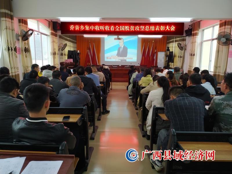 凤山县:乔音乡收听收看《全国脱贫攻坚总结表彰大会》节目