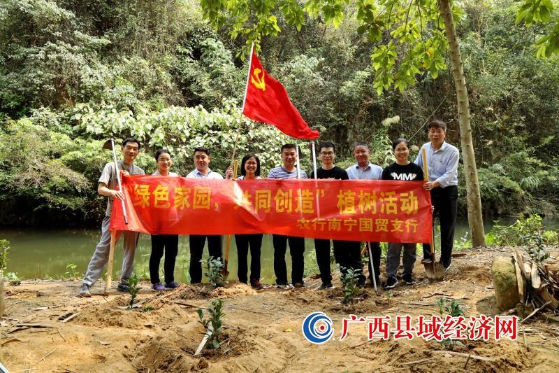 """农行南宁国贸支行开展""""绿色家园 共同创造""""植树活动"""