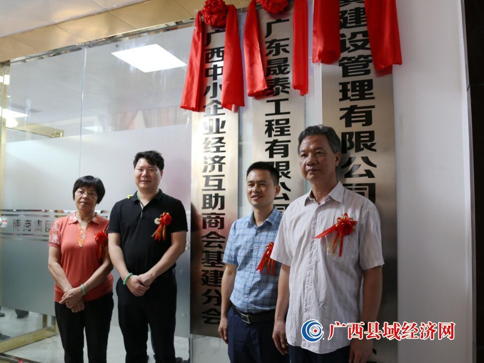 广西中小企业经济互助商会基建分会揭牌成立