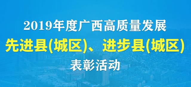 2019年度广西县域科学发展表彰活动