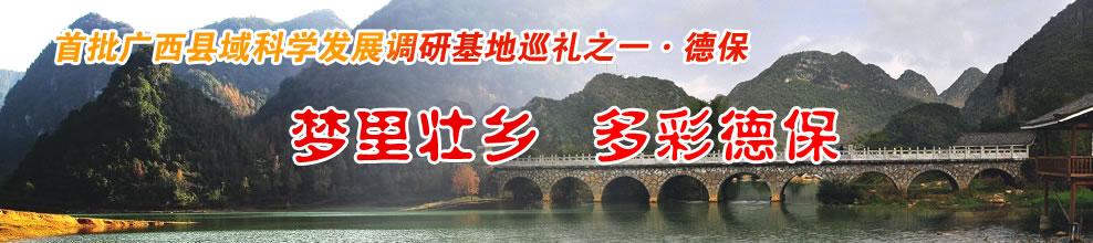 首批广西县域科学发展调研基地巡礼之一・德保