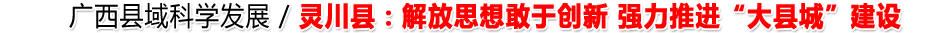 """灵川县:解放思想敢于创新  强力推进""""大县城""""建设"""